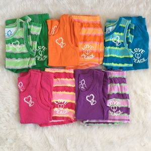 Lot of 5 Girls Tank Top and Short Sets - Size 7/8